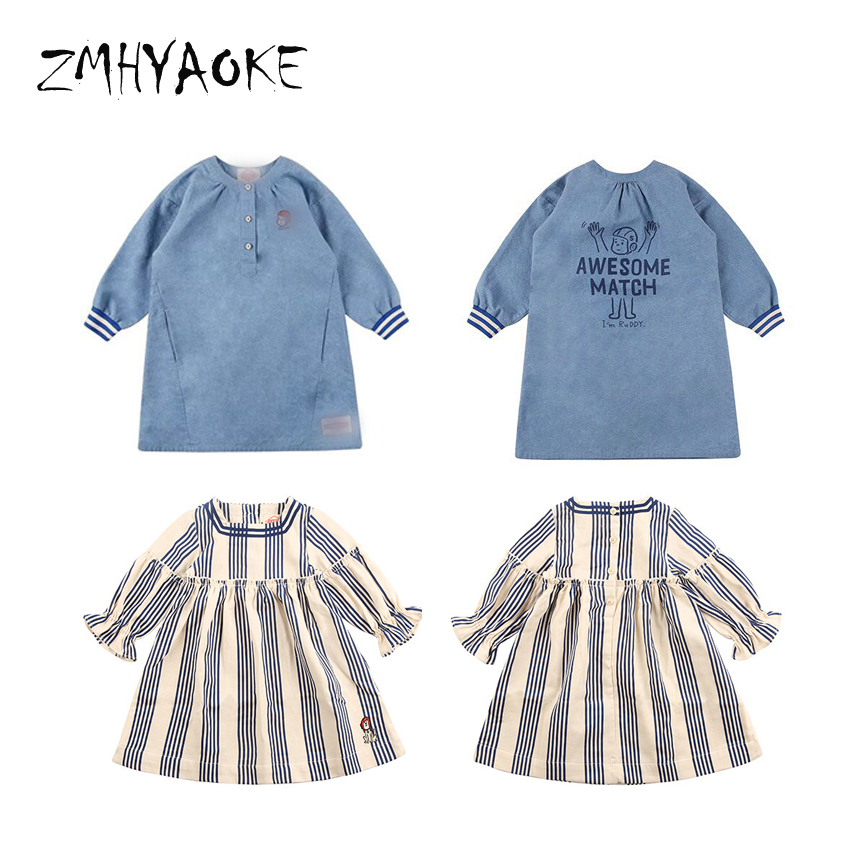 zmhyaoke maillot equipe de france 2018 autumn baby girls dress clothes bobo choses kids football