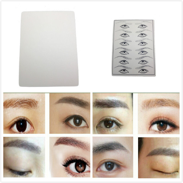 2 Sheets Excellent Permanent Makeup Blank Skin Eyebrow Eye Tattoo