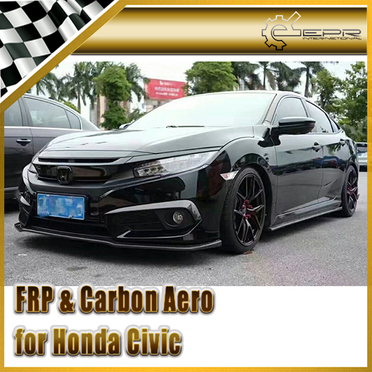 Car-styling For Honda 10th Generation Civic FC CM-Style Carbon Fiber Side Skirt Extension