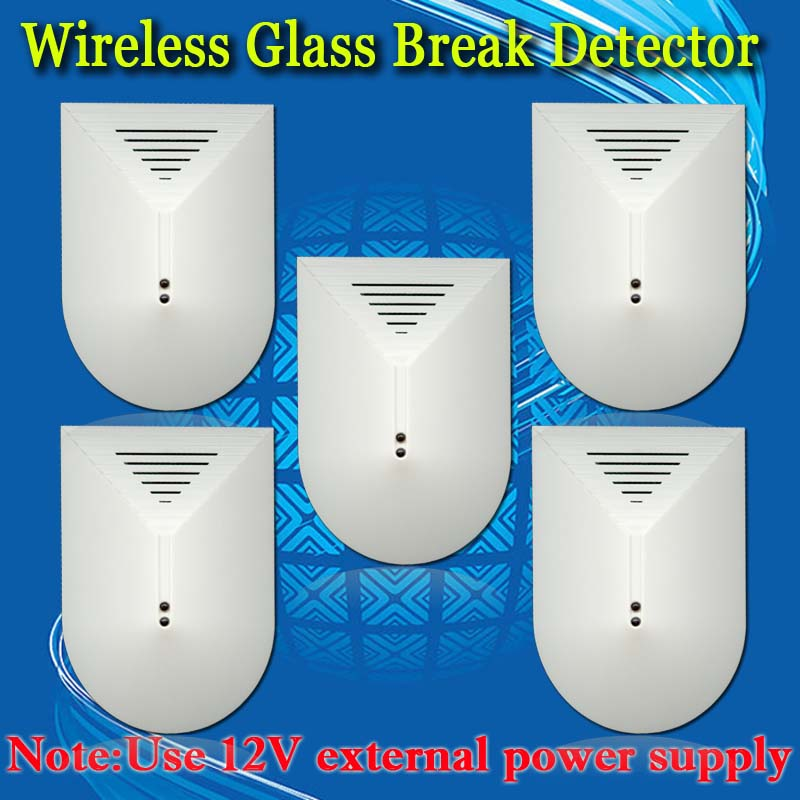 ФОТО Free Shipping!5pcs Wireless 433mhz or 315mhz Glass Break Detector For GSM Phone pstn SMS Alarm System Door Window Glass Security