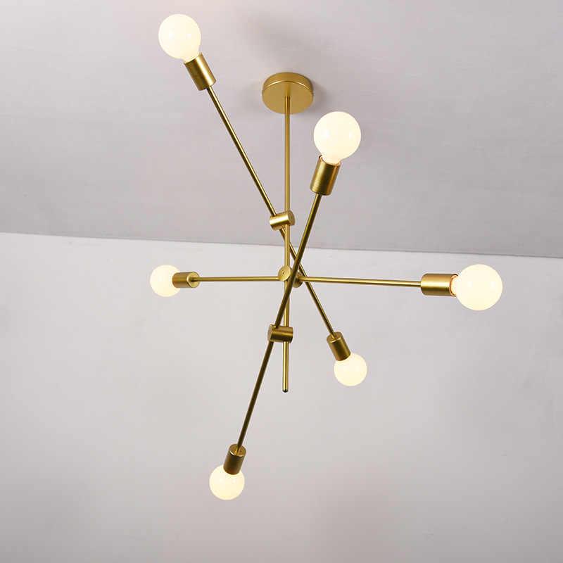 220 v 110 v Современная Nordic декоративный подвесной светильник золотистые железные клетка подвесной светильник для гостиной спальня бар столовая коридор