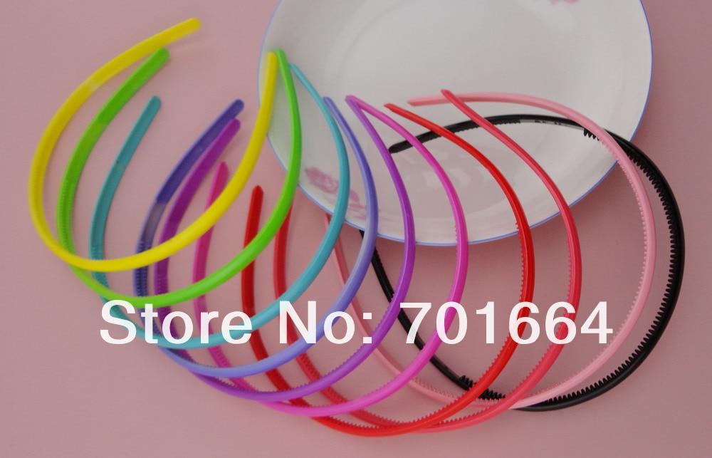 10 шт. 8 мм толстые блестящие красочные пластиковые повязки для волос с зубами Детские Бутик Аксессуары для волос