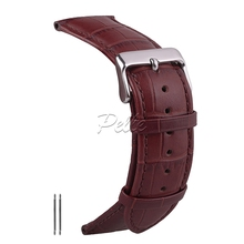 Pelle 20mm 22mm 24mm 26mm Leather Watch Replacement Watch Strap Luxury Business Style Watchband Design Dark Brown Color цена и фото