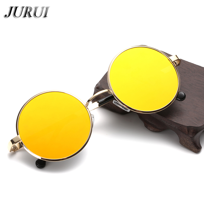 2018 New Europe and America Style Retro flat Women Yellow Sunglasses - Kledingaccessoires