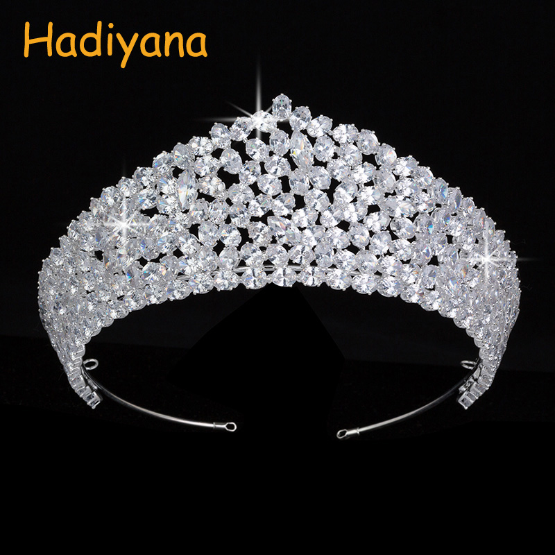 Wedding Bridal Hair Jewelry Trendy Design Tiaras Crown For Women Oval Zircon With High Quality BC4504