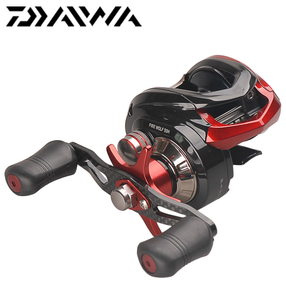 Original DAIWA FIRE WOLF Bait Casting Reel 5+1BB 7.0:1 Left or Right Hand Carp Fishing Baitcasting Reel Max Drag 6kg Carretilha цена 2017