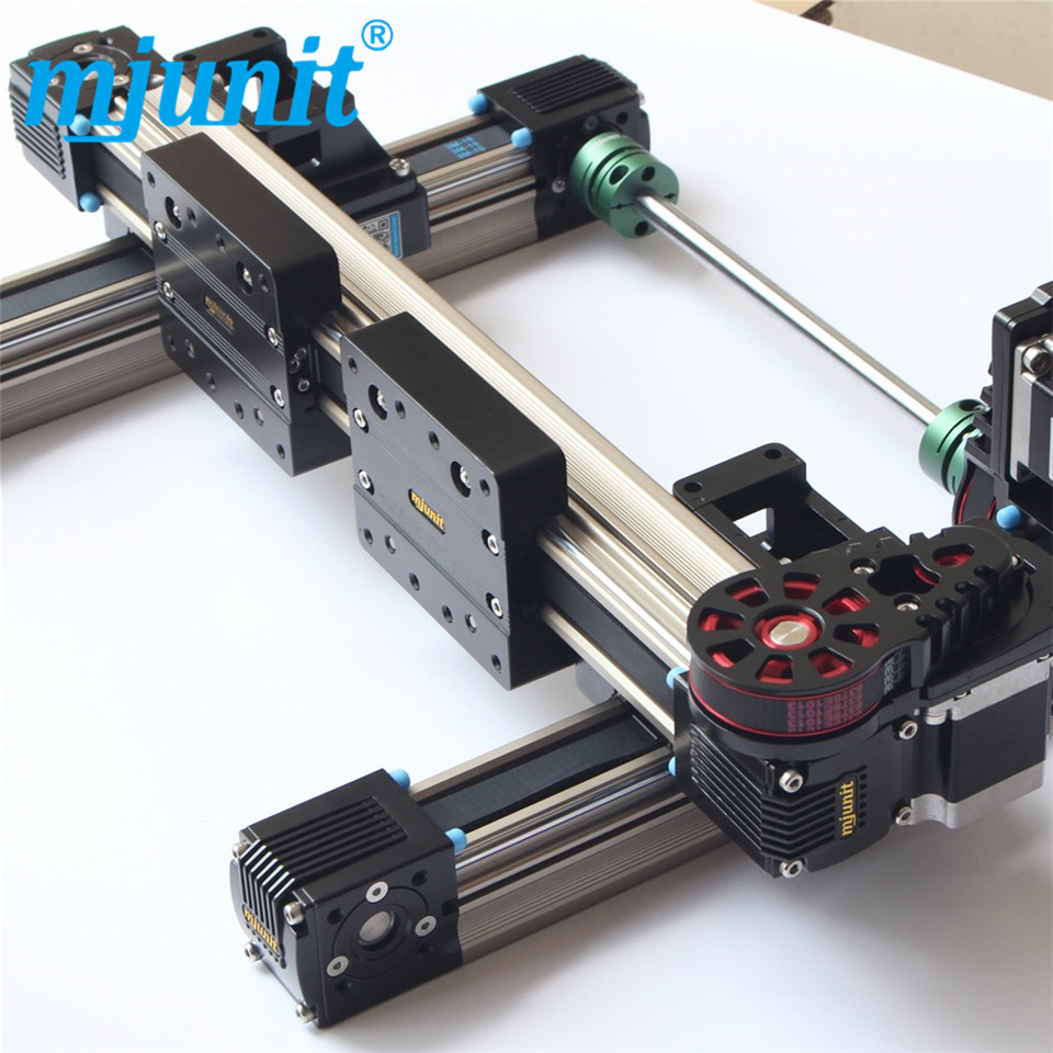 MJ45 Precision XY 2-axis slide linear motion stage Linear Guide Rail mjunit xy postioning axis linear motion shaft support series slide cnc aluminum rail high quality