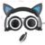 3.5mm Auriculares de Juegos con LED orejas de gato Diadema Plegable Auriculares auricular Retráctil Mejor regalo