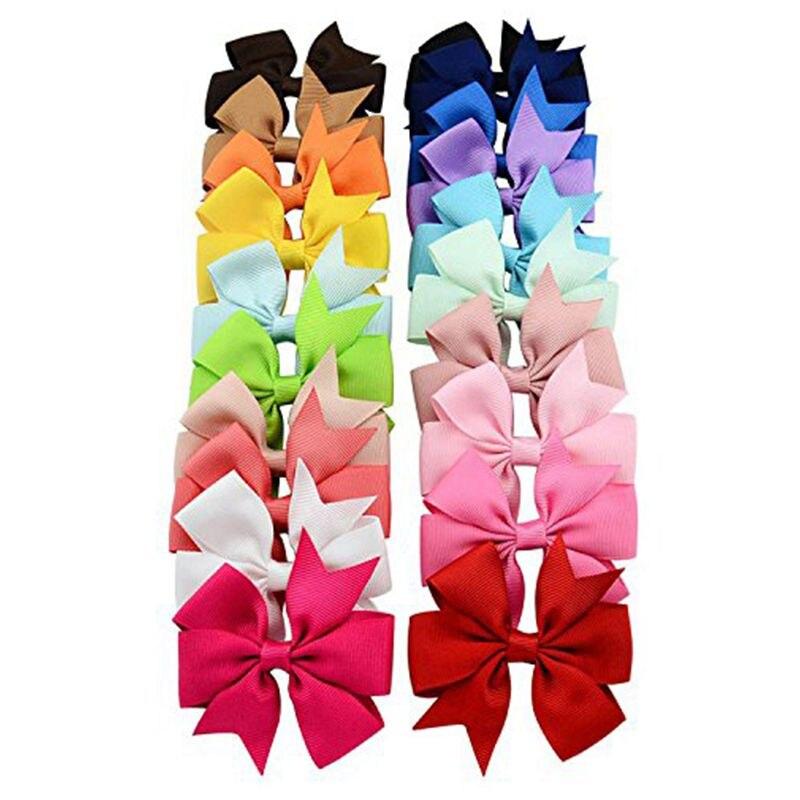 HTHL-20pcs Butterfly Hair Clip Leader Girl Child Gift