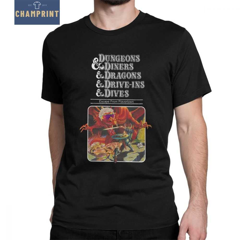 Dungeons And Dragons DnD T-shirt Mannen Dungeons Diners Normale Kleding Grappige T-Shirts Ronde Hals 100% Katoen Tees Tops Gaming
