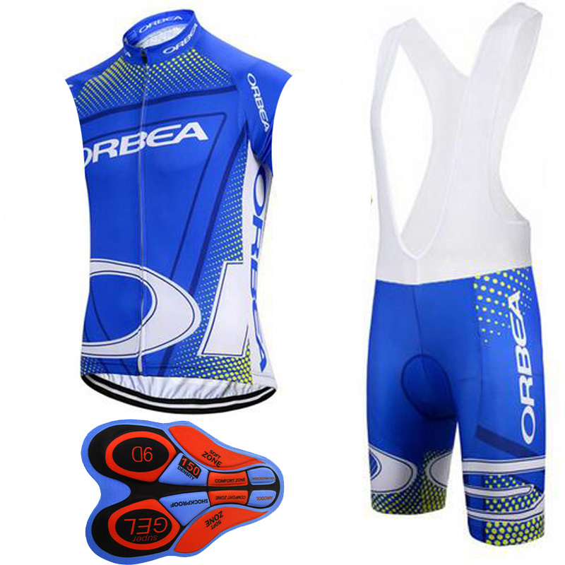 2017 Breathable ORBEA Cycling sleeveless Jersey set Summer Quick-Dry Bike Clothes MTB Bicycle Clothing Ropa Ciclismo hombre E172  pro mtb cycling jersey women s breathable quick dry summer sports outdoor running dress riding bike girls clothing ropa ciclismo