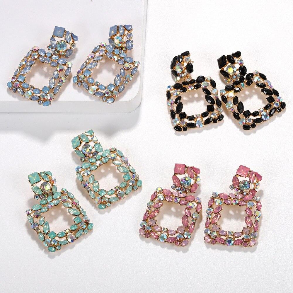 Pequeño Cristal claro AB Corazón Brillante Diamante Brillo Aretes