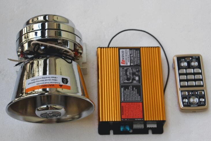 Higher star 100W police siren car alarm amplifiers + 100W speaker/horn for police,ambulance,fire vehicles ect.