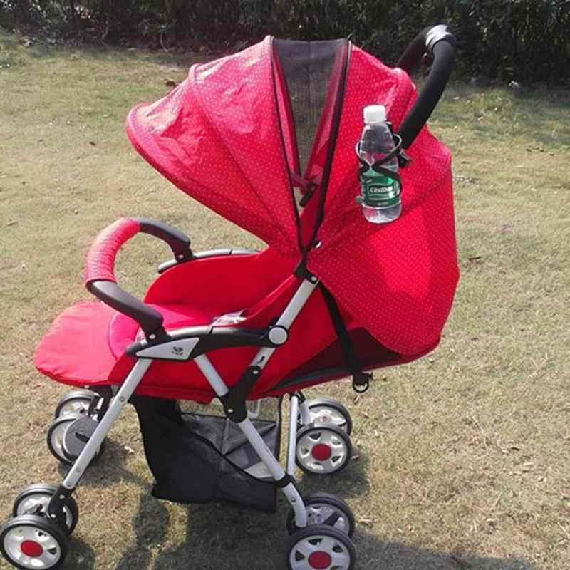 Universal Baby Stroller Feeding Bottle Cup Holder Adjustable Infant Bicycle Carriage Bottle Rack Stroller Rotatable Stand Holder