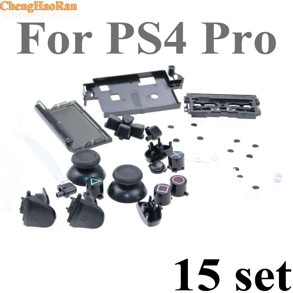 Replacement Repair parts for PS4 Controller For PS4 PRO Dualshock 4 D Pads Rubber Conductive R L buttons video game accesories