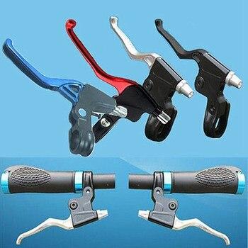 1 par Alavanca Do Freio de Bicicleta de Estrada 2 Aluminu Lidar Com Alavancas de Freio De Montanha MTB Bicicleta Ciclismo Dedo Preto Vermelho Azul Prata