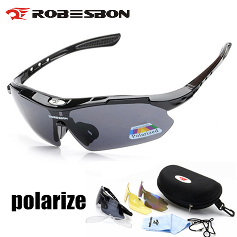 Polarized Cycling Eyewears Glasses Mountain Fishing Uv400 Running Mtb Road 3-Lens title=