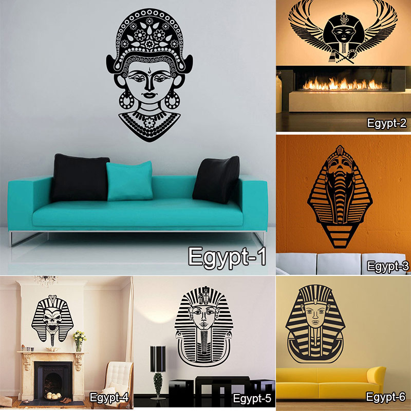 Egypt Mural Wall Decal Egyptian God Eye Big Large Vinyl Sticker Wall Sticker Bedroom Living Room Home Decoration Free Shipping