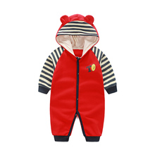 YiErYing Baby Clothes Boys Girls Jumpsuit Cute Costumes Cartoon Cotton Long Sleeve Hooded Newborn Romper