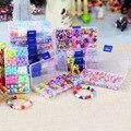 Hot DIY Beads para Crianças handmade brinquedos puzzle/Acrílico Frisado set brinquedos para presentes do aniversário Da Menina, frete grátis