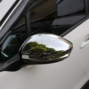 Image 4 - Jameoオートabsクローム車のリアビューミラー保護カバーバックミラーステッカー用プジョー208 2014 2017アクセサリー
