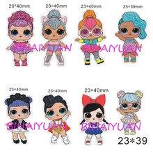 Free Shipping Pcs Lot Mm Cartoon Cute Girl Planar Resinchina  C B  Colors Available