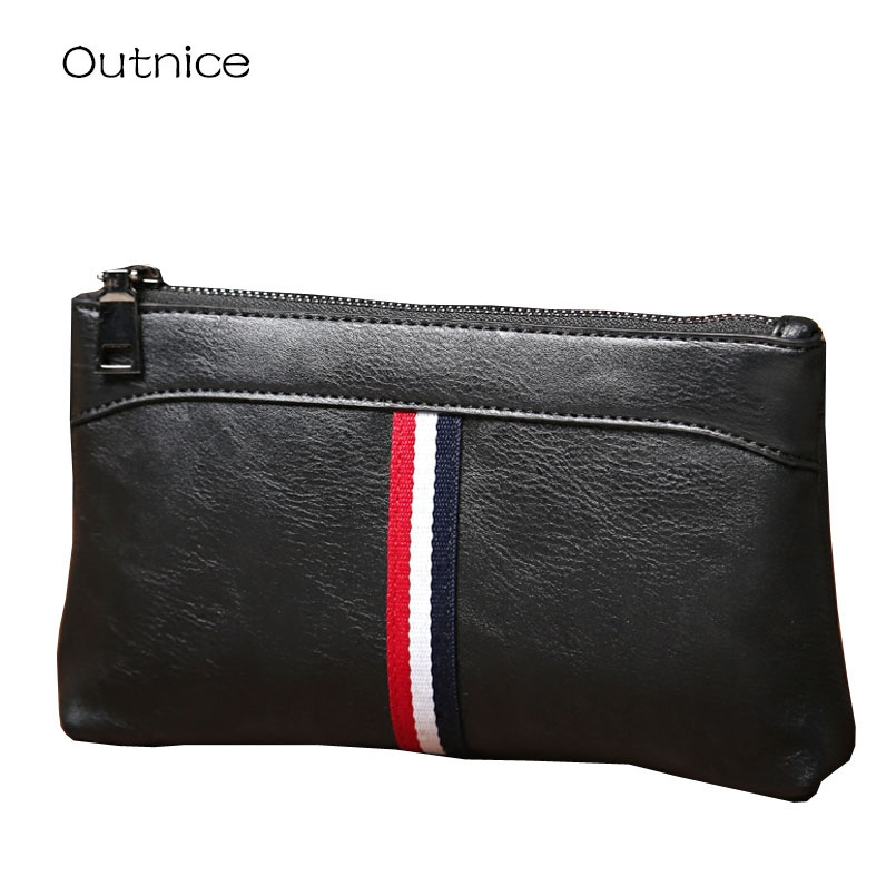 Handy wallets brand mens hand bag zipper close men clutch bags wallet male PU leather coin Purse for leisure and business business men wallet long designer double zipper leather male purse brand mens clutch handy bag luxury wallets carteira masculina