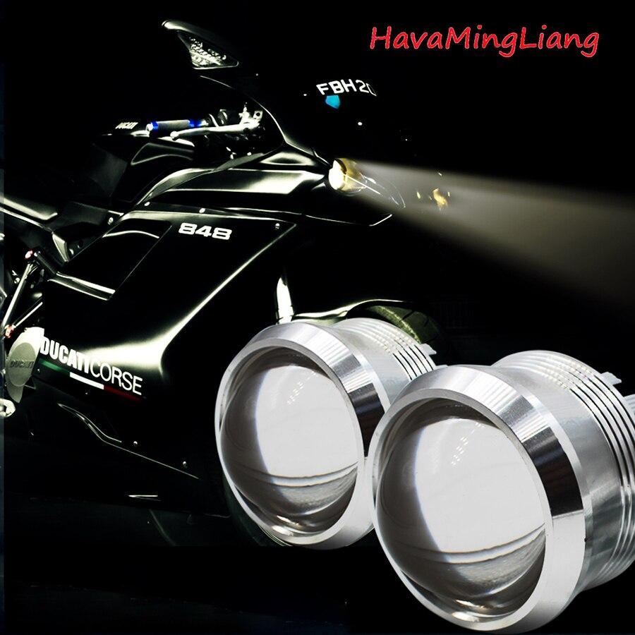 2pcs LED High Lumen Motorcycle Headlight 20W H4 H6 High Low 3000LM Motorbike Hi Lo light replace motorsiklet lighting