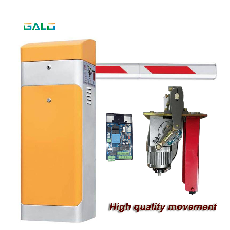 Automatic Electric Boom Barrier Gate Car Parking Equipment Barrier Remote Control With 1~5m Boom Telescopic Arm DIY