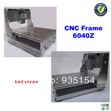 CNC 6040 Z engraving machine frame with ball screw, cnc frame  aluminium cast, mini lathe bed