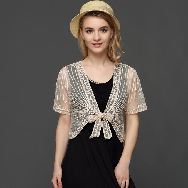 Handmade Crochet Lace Mesh Shrug