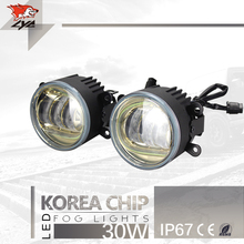 "One Set Price LYC Headlights Fog Lights Led Lighting Automotive Headlights and Foglights 3.5"" Round Fog Lamp Car Styling"