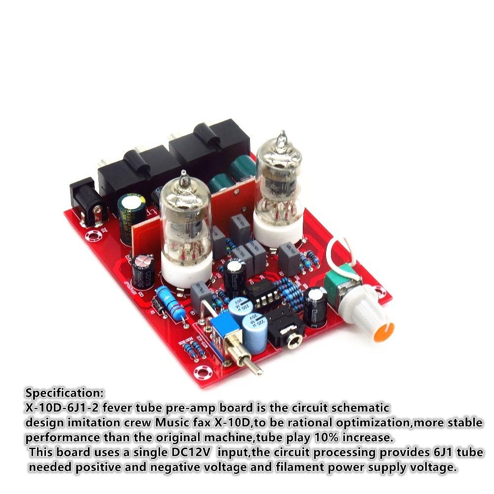Yjhifi X 10d 6j1 Dc12v Tube Pre Amp Headphone Audio Amplifier Stable Filament Supply Img 4840 1