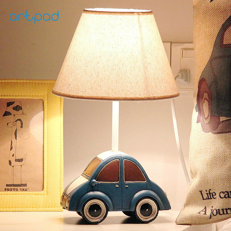 Artpad Creative Car Table Lamps for Bedroom Lighting AC 220V Resin Dimming LED Night Lamp for Children Boy Kids Brithday Gift artpad creative cute cartoon umbrella style totoro night lamp usb port charged led bedroom light for kid boy girl desk lighting