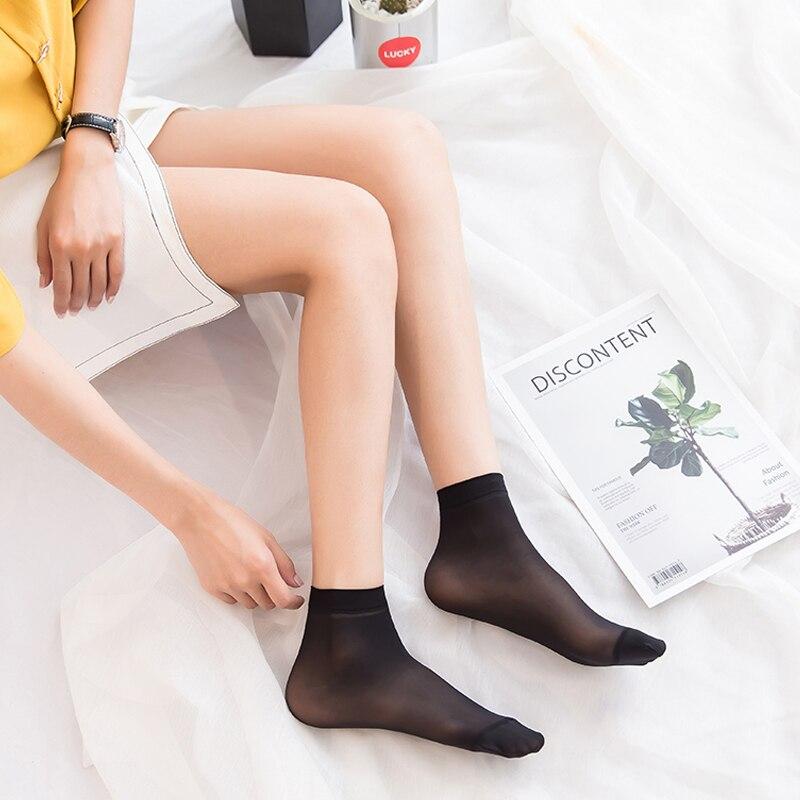 5 st Kvinnor underkläder korta nät strumpor Bomullssilke - Damkläder