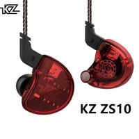 KZ ZS10 Headphones 4BA With 1DD Dynamic Hybrid In Ear Earphone HiFi Bass Headset Noise Cancelling