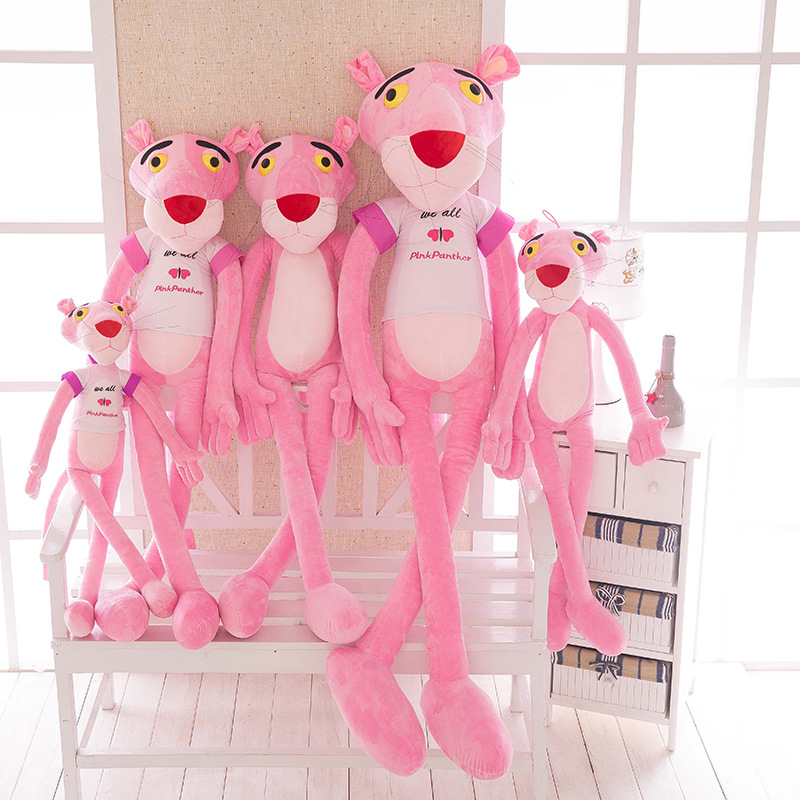 1pc 60/80/100cm Pink Panther Plush Toy Cute Naughty Pink Panther Baby Plaything Stuffed Animals Plush Doll Girls Children Gifts