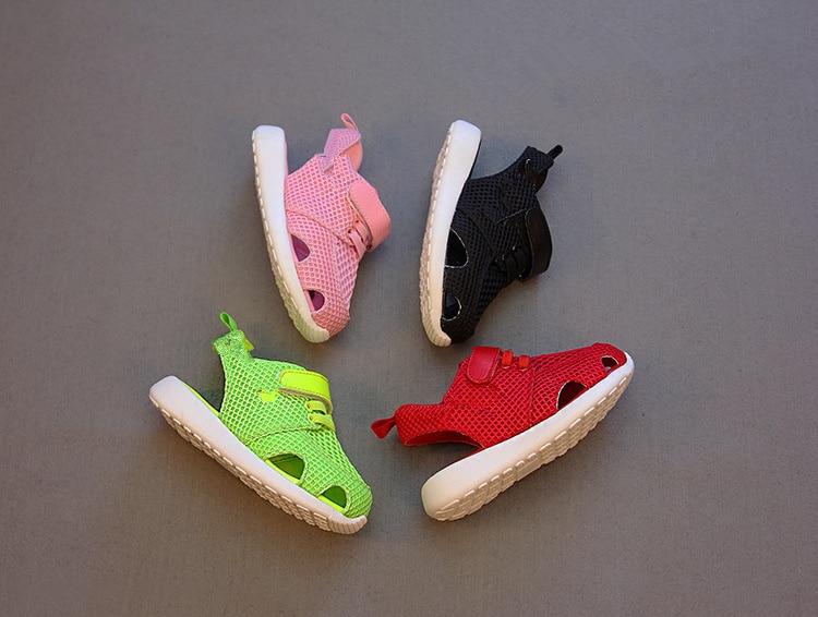 2015 Summer Fashion CandyColor Infant/Toddler/Kid Sneaker Boy/Girl Fretwork/Mesh Baby Sports Sandals Age 18M-3T Sapatos Infantil