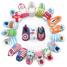 Fashion Lovely Baby Shoes cute Animal Prints Cotton Fabric Slip-On First Walkers Soft Cotton Sole Shallow Baby Boy Shoes DS19