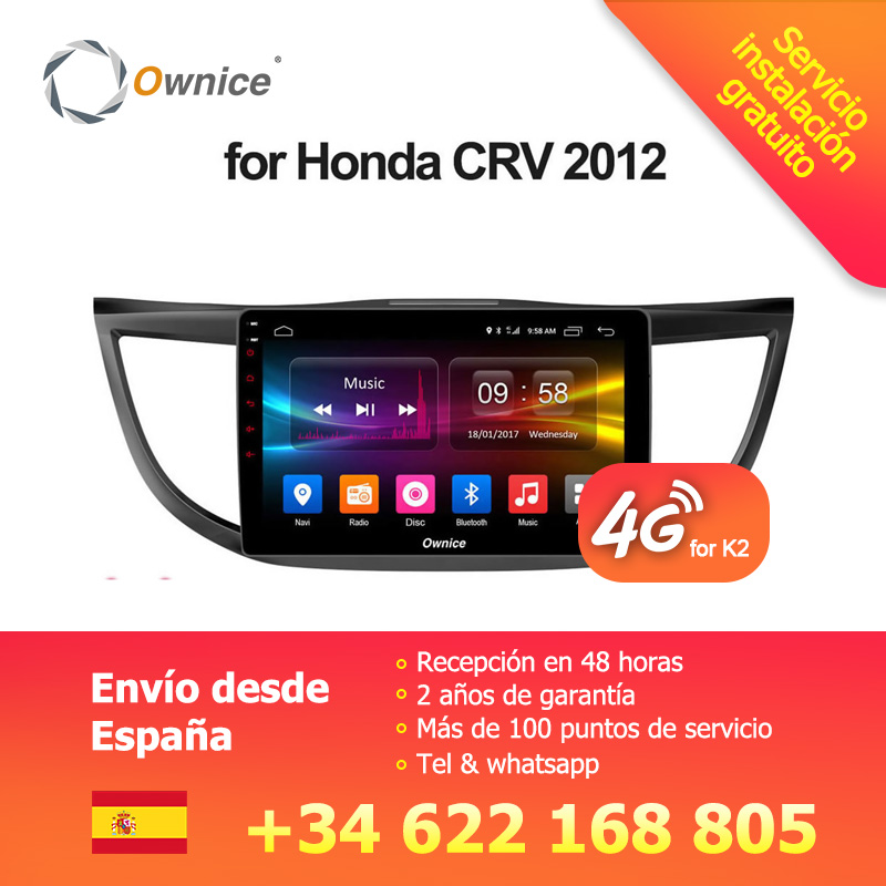 Ownice C500 + G10 Octa Core Android 8.1 Per Honda CRV 2012 2013 2014 2015 2016 Auto Radio Player Navi GPS 2 gb di RAM Supporto DVD 4g