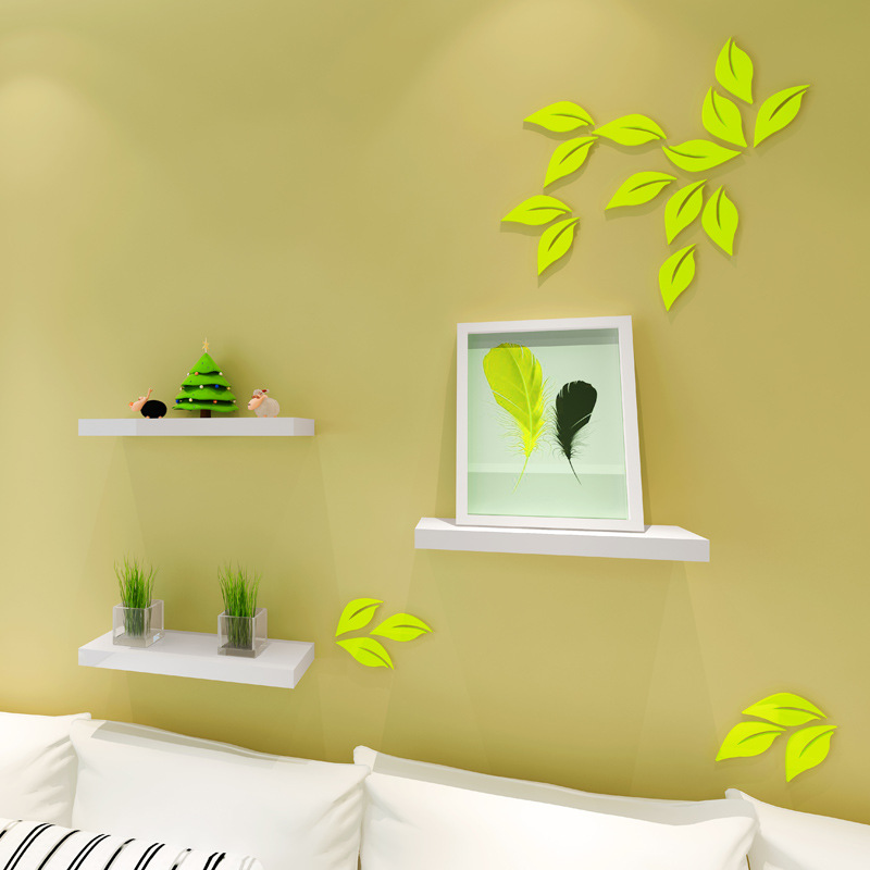 Home decoration 6pcs wall stickers 3d TV backdrops three dimensional ...