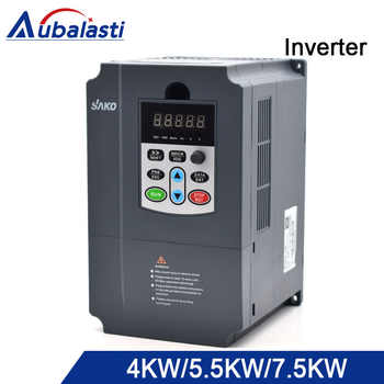 aubalasti Inverter 4kw 5.5kw 7.5kw Frequency Converter 3HP 380V utput 9a 13a 17a 400 Hz use for CNC machine - DISCOUNT ITEM  27% OFF All Category
