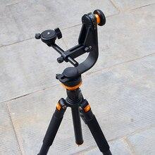 PowerKam MH-1 gimbal tripé cabeça para o panorama, foto de grupo, matriz de fotos, fotografia de aves com placa de liberação rápida