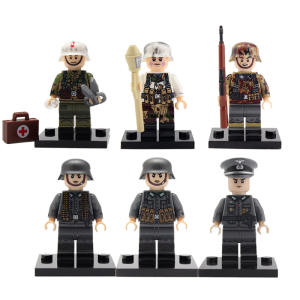 QiKod Military Soldier Figures Building Blocks Weapon Brick