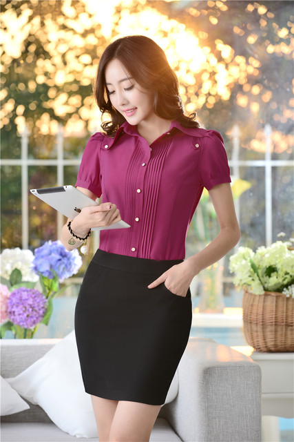 Office Uniform Designs Women Suits with Skirt and Blouses & Shirts Sets Work Wear Formal Ladies Business Suits