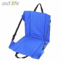 Outlife 접이식 낚시 의자 좌석 쿠션 의자 매트 습기 방지 의자 야외 낚시 캠핑 하이