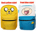 Original Bolsa de Finn y Jake Adventure Time Mochila de Lona de Doble Cara Bolsos de Escuela para Niños Niñas Casual Mochila Mochila