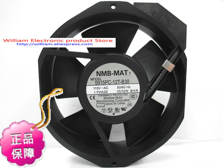 New Original NMB 5915PC-12T-B30 172*38MM AC115V 35/32W axial cooling fan 400a 4p 220v ns moulded case circuit breaker
