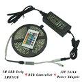 5M 3528 5050 Waterproof RGB LED Strip Lighting 60LEDs/M SMD5050 Tape Lighting 24Keys IR Remote RGB Controller 12V Power Supply