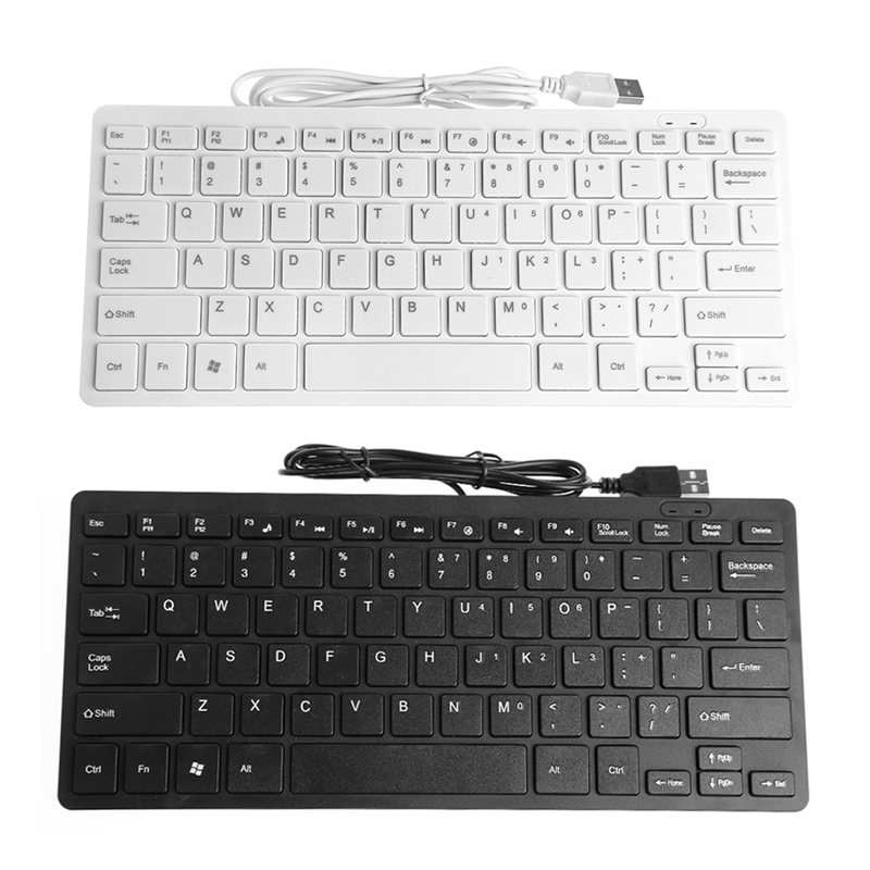 USB Wired Mini Slim Multimedia External Keyboard For Notebook Laptop PC Computer